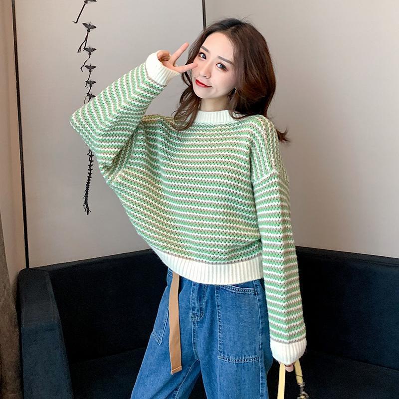 GUUZYUVIZ Autunno Inverno O-Collo Maglione Donne Pullover casuale allentata inverno supera per le donne stile coreano