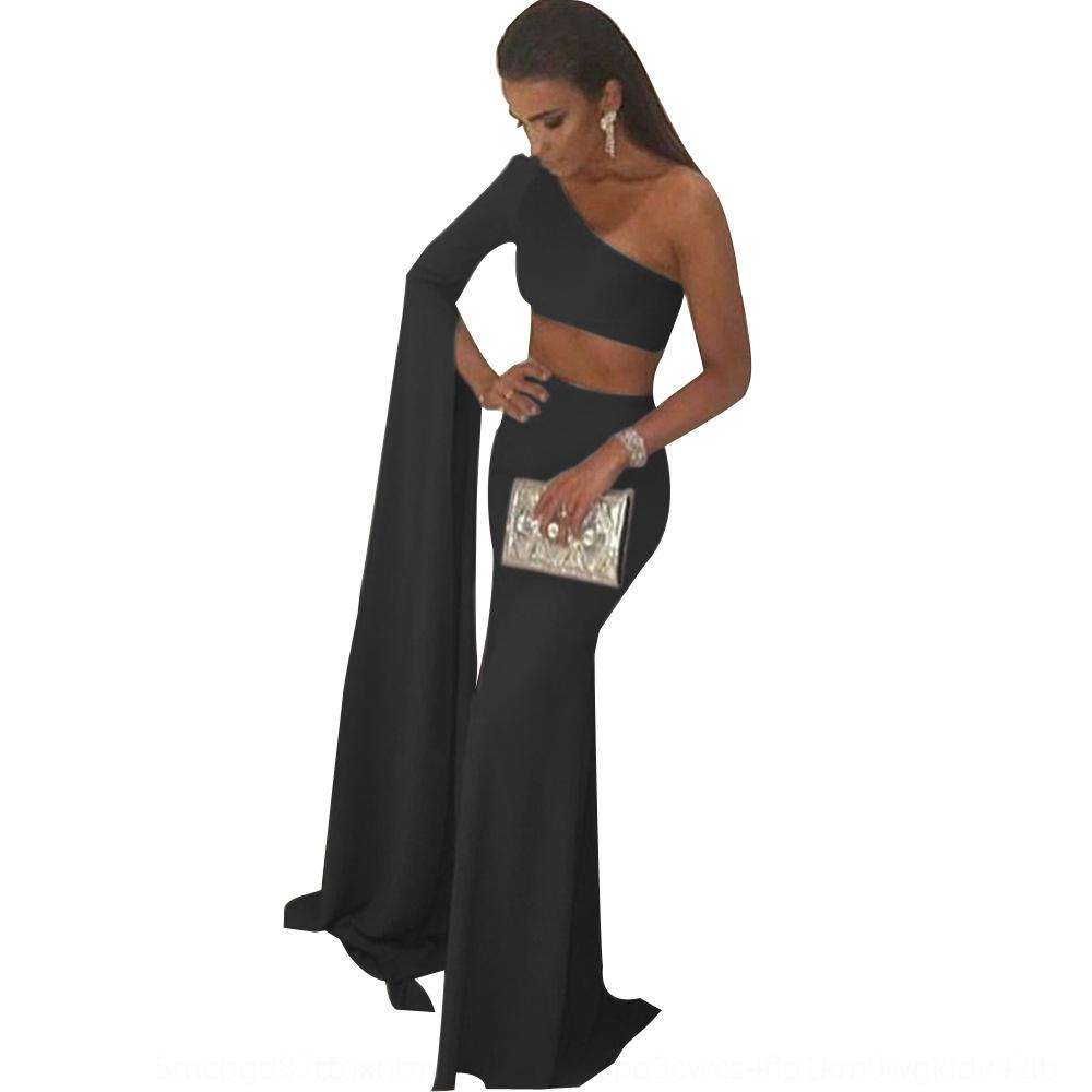 Ao9o Elegant Royal Dresses Mermaid Prom Prom sera da sera 2020shoulder Donne lunghe Abiti da donna a buon mercato Abiti blu a buon mercato Abiti da Blue Vestido de Fiesta Robe
