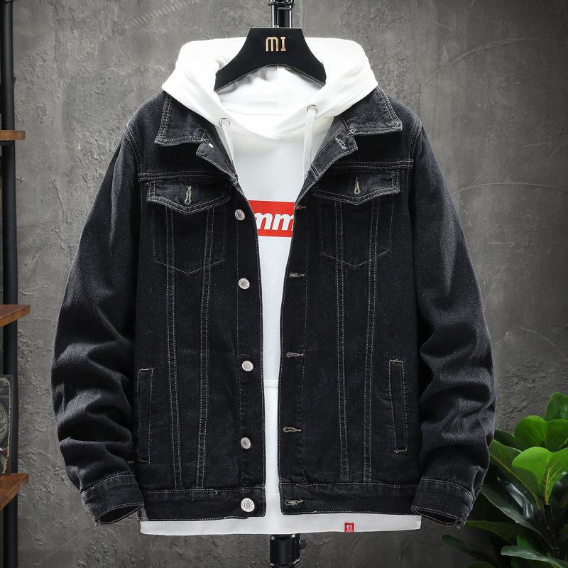 Kot Ceket Sonbahar Ve Kış 2020 Yeni Kore Delikli Kot Ince Yakışıklı erkek Ceket Rahat Ceket erkek Ceket