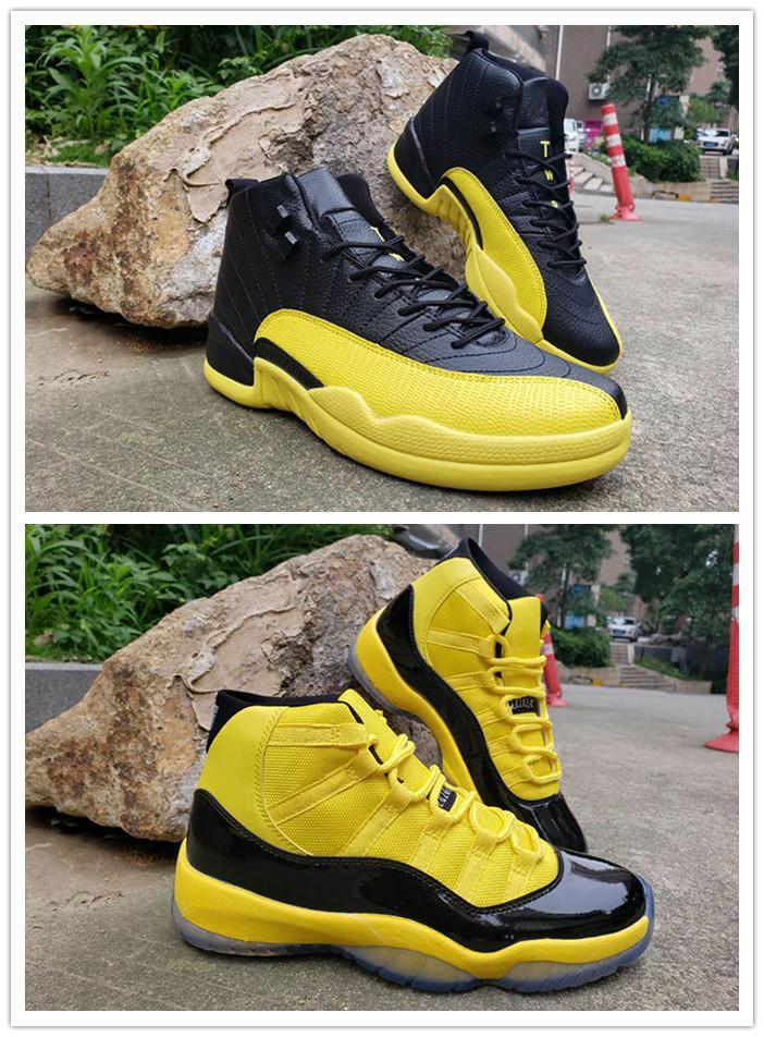 Authentic Space Jam 11 Amarelo Bumblebee Men tênis de basquete Jumpman 12 RS-X transforma Athletic Sneakers Mens Trainer com caixa