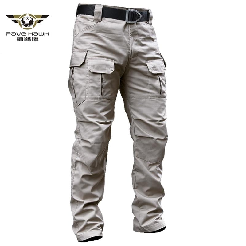 Pantaloni merci tattiche militari uomo Stretch Stretch Stretch Combat Rip-Stop Molti Pocket Army Long Pantalone Lungo Stretch Cotton Cotone Pantaloni da lavoro Casual 201128