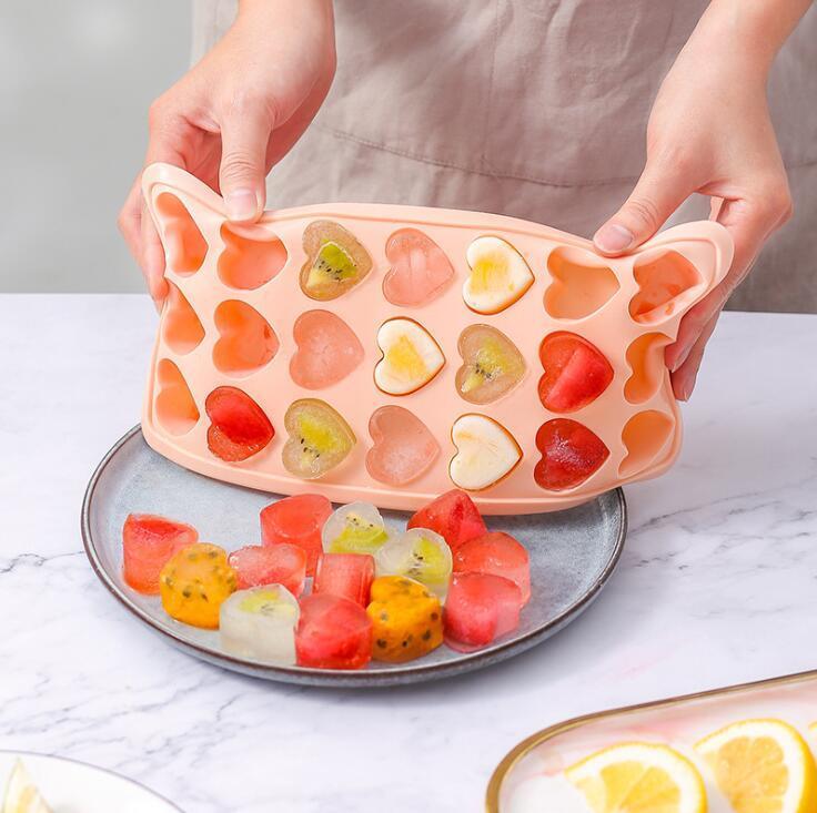 Hohlraum Silikonform DIY Gelee Eisform 21löcher Gummy Candy Mold Home Quadrat Form Form Ice Cube Form Küche Trinkwasser Meer GWC6018