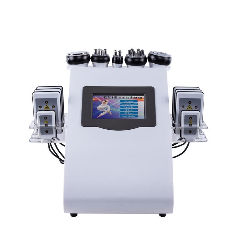 !!! RÉCENTS 6 En 1 ultrasons 40K Cavitation vide Radio Fréquence Lipo Laser Minceur Machine pour Spa Hot Vente CE