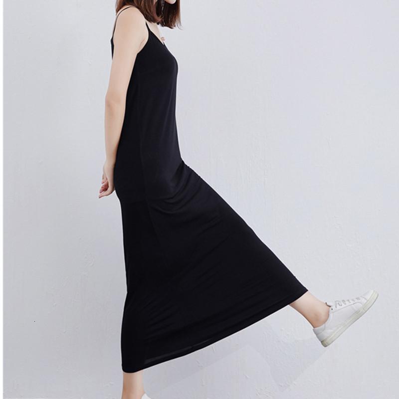 Liva Girl Black \\ Escribe \\ Grey Women Nightgown Long Modal Modal Camisón sin mangas Nightdress Casual Home Ropa ropa de dormir Vestido AD318