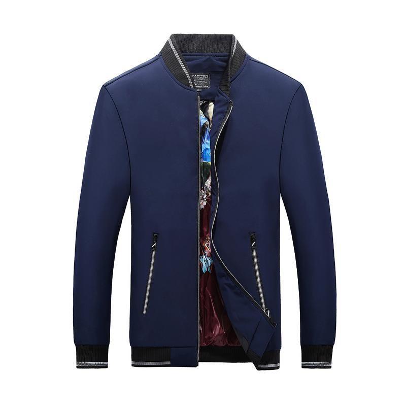 2021 Nuove Giacche Uomo Autunno Inverno Nuovo Arrivo Giacche da uomo e cappotti Casual Outwear Slim Fit Zipper con scollo a V Moda con scollo a V
