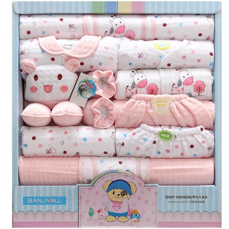 18 Stück Neugeborenen Mädchen Winter 100% Baumwolle Säuglingsanzug Jungen Kleidung Set Outfits Hosen Baby Kleidung Hut Lätzchen ROPA 201026