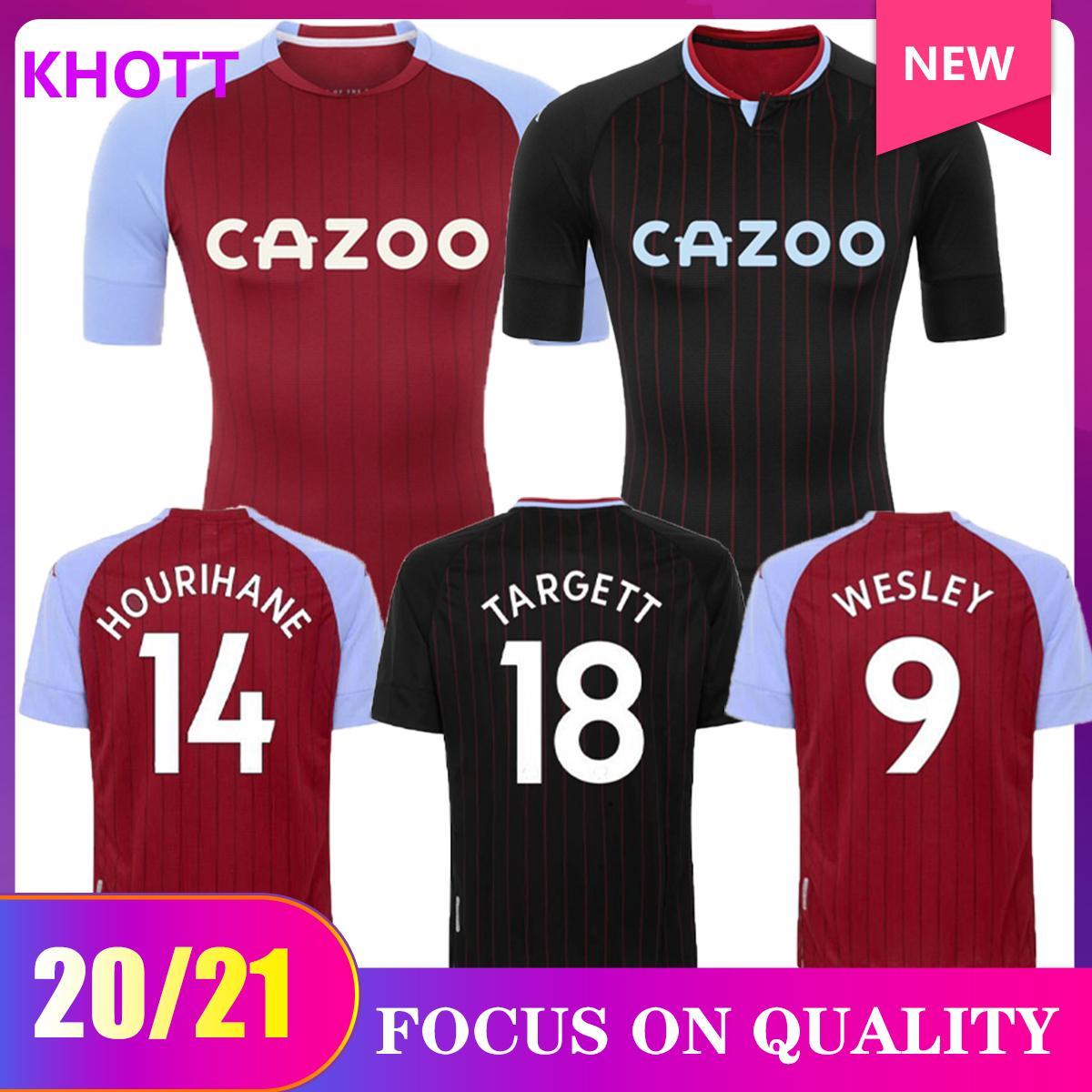 20 21 Aston Villa Soccer Jerseys Home Camicie da calcio Peter Withe des Bremner Tony Morley Gary Shaw 2020 2021 Camiseta Red Maillot