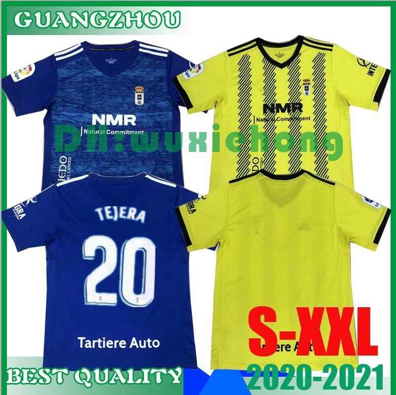 2020 2021 Real Oviedo IBRA футбол футбол 20 21 R. Folch Y. Bárcenas Johannesson Mossa Javi Muñoz Мужская футбольная футболка синий желтый размер S-XXL