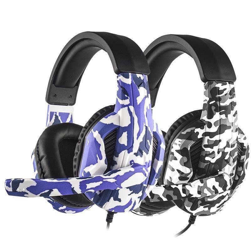 Tarnung Stereo tiefer Bass mit Mikrofon für Ps4 / Xbox One / Computer-Switch Game Player-Kopfhörer Handy-Kopfhörer Gaming Headset