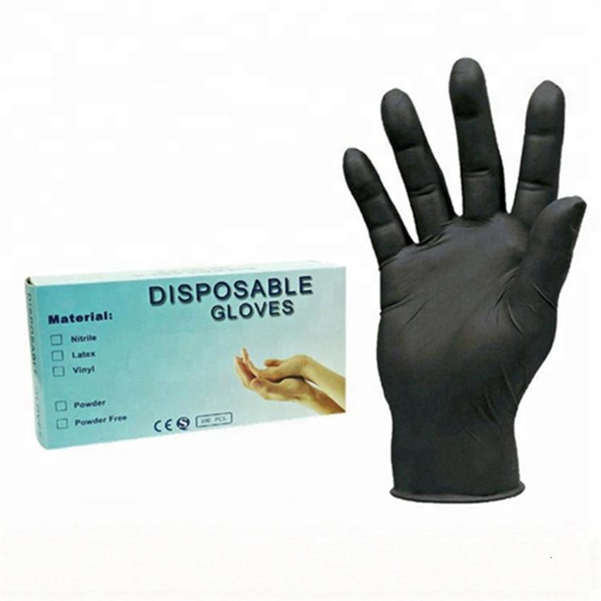 Черный / синий 100 шт. Одноразовые Гэлловые латексные супер тонкие универсальные нитриловые перчатки для посуды / кухня // Работы S / M / L EL7X