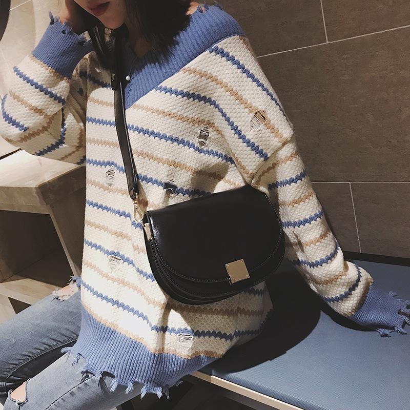 Fibbia quadrata Vintage Fashion Small Bags 2020 Borsa femminile Messenger Sella Borsa Olio Nuova spalla SNGCD