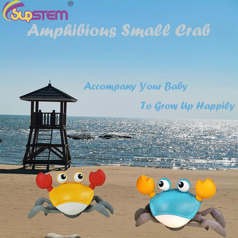 Bath Toys Crab Clockwork Water Classic Baby Toys Bath Tub Swim Shower Game Bathroom Summer Outdoor Beach Toys For Children Gifts 1019