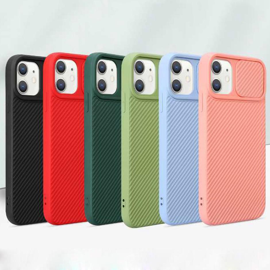 iPhone 12 Mini 11 PRO MAX iPhone XR XS 6 7 8 artı telefon kılıfları için YENİ Düz Kenar İtme-çekme Windonw telefon kamera koruma kılıfı