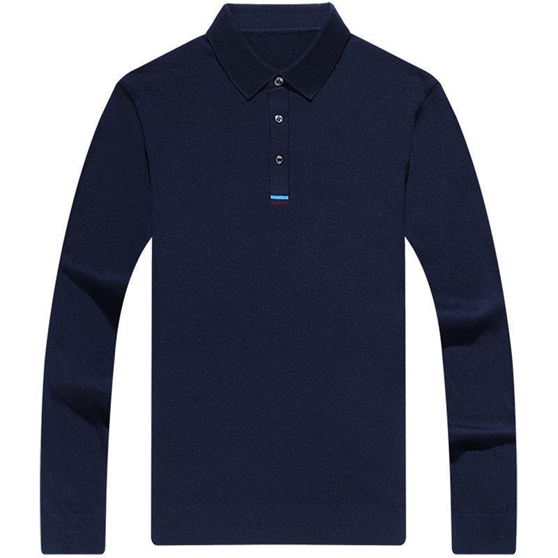 Sweater de cuello para hombre 2020 Nuevo otoño de manga larga lana de lana de punto de punto