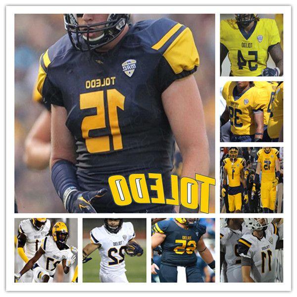 Custom 2020 College Toledo Football Jersey Carter Bradley Bryant Koback Bryce Mitchell Shakif Seymour Tycen Anderson Jalynn Williams Bates