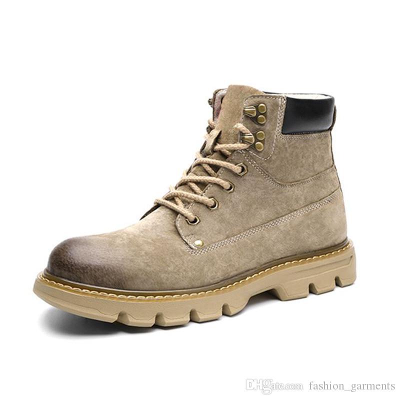 Botas para hombre Hombres Mujeres Botas clásicas Impermeable Casual Martin Boot High Cut Snow Boots Senderismo Deporte Deporte Zapatos Zapatillas de deporte
