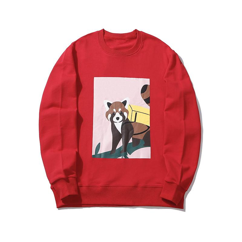 Мужские фуфайки способа Mens женщин зимы осени Vintage Поло с длинным рукавом Super Soft Cozy толстовки 20SS Fox Anime пуловер Hoodie Coat