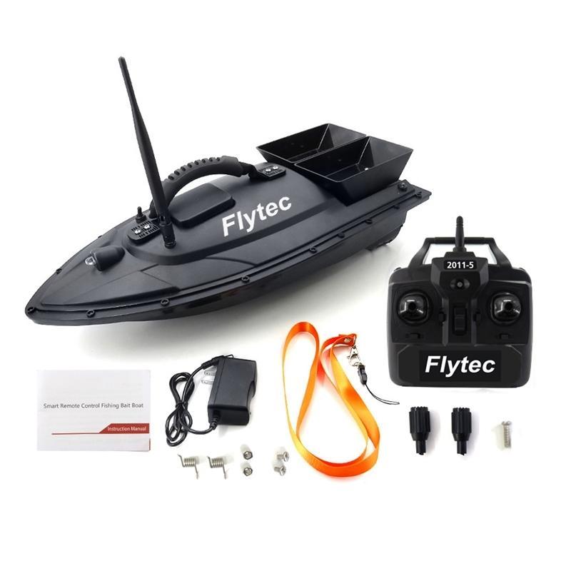 Flytec 2011-5 Fish Fisher 1.5kg Загрузка 2 шт. Танки Двойные моторы 500M Пульт дистанционного управления Море RC Рыбалка Bait Bait с кастинг Y200413