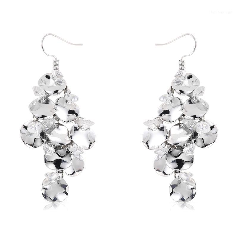WYBU Metal Sheets With Crystal Pendant Drop Earring For Women Party Jewelry Ear Earing 2020 Newest Style1
