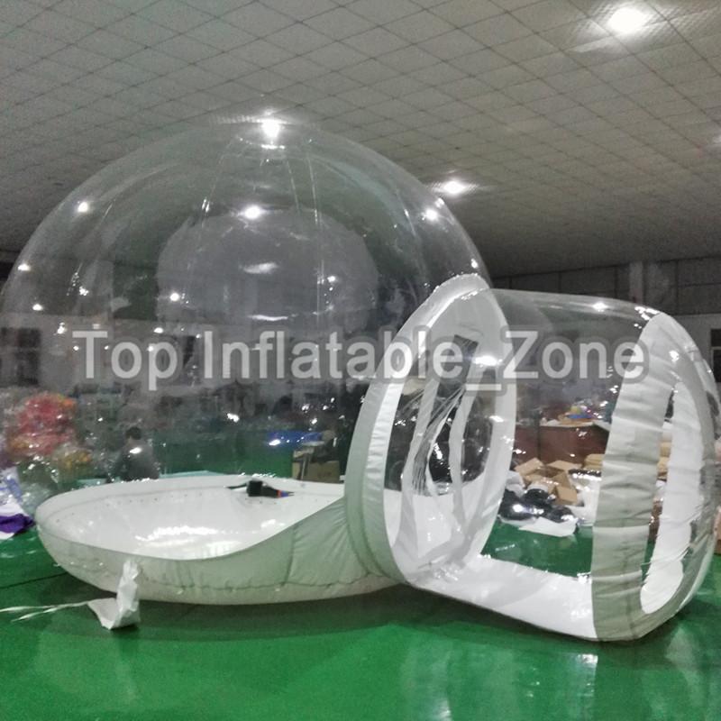 لودج بالون في الهواء الطلق سجل الهواء المقصورة منزل التخييم شفافة Igloo قبة فقاعة فقاعة نفخ خيمة