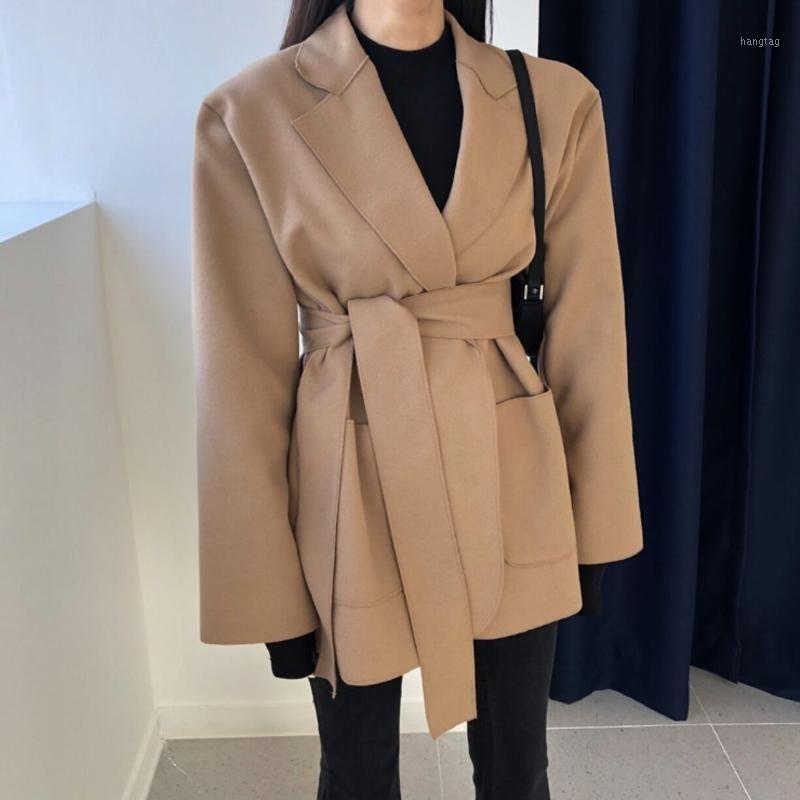 Superaen New Automne Winter Office Lady Solid Notched Studio Pull Jacket Blazer Femmes1