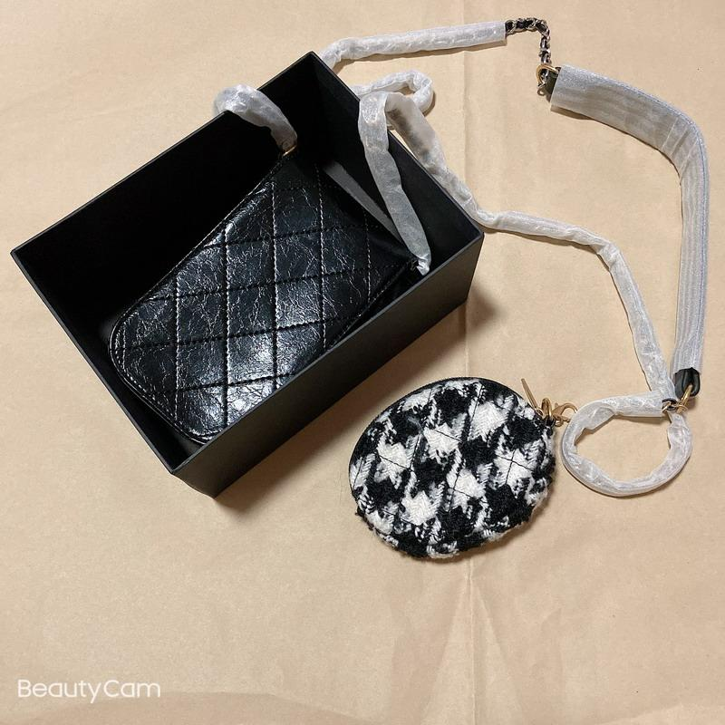 New C women fashion Cosmetic bag, mobile phone bag, coin purse, mother-and-child bag, classic chain for fashion office bag gift box vip gift