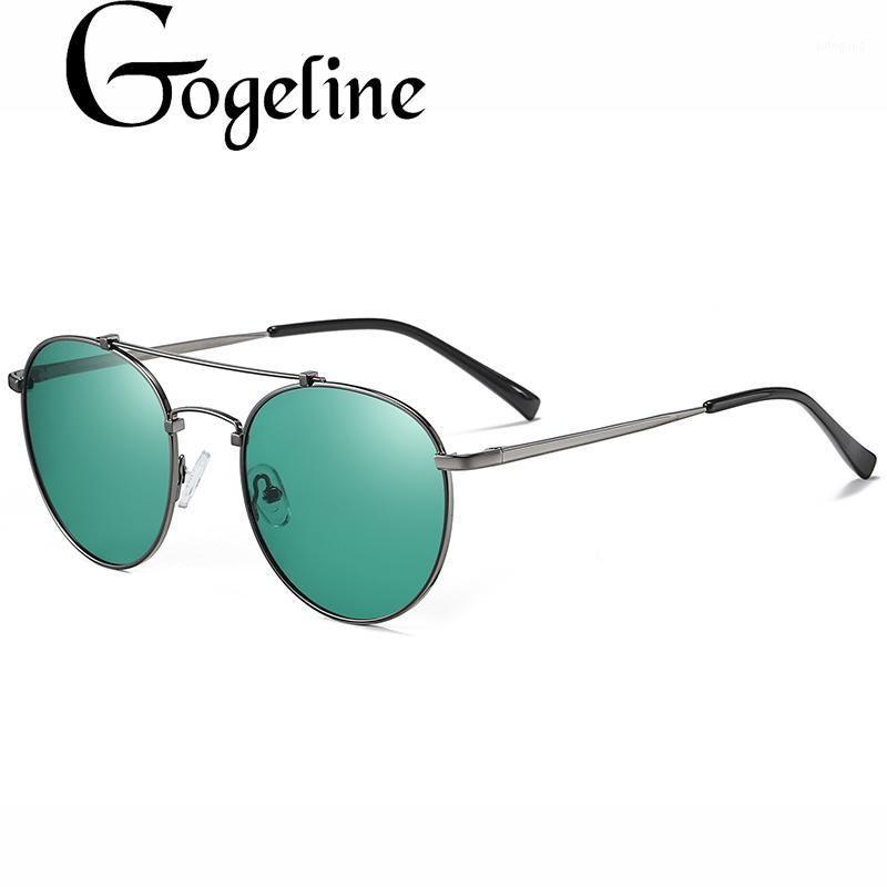 Güneş Gözlüğü 2021 Retro Yuvarlak Kadın Erkek Için Polarize Unisex Tasarımcı Güneş Gözlükleri Vintage Metal Sürüş Gözlük UV4001