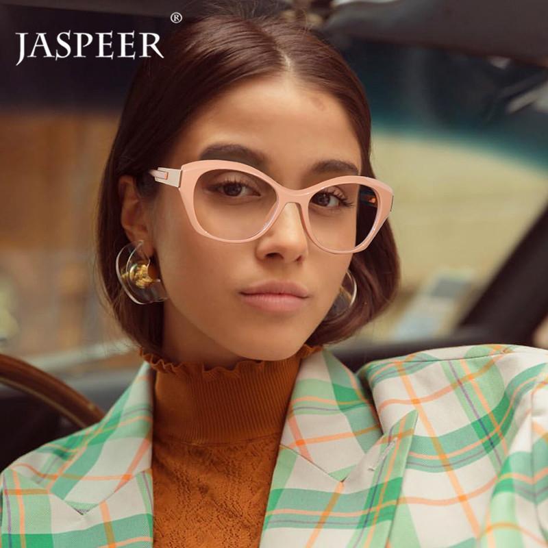 JASPEER Fashion Cat Eye Brillen Frames Frauen Retro-Augen-Glas-Rahmen-Damen-Dekoration Brillen Customized Optical