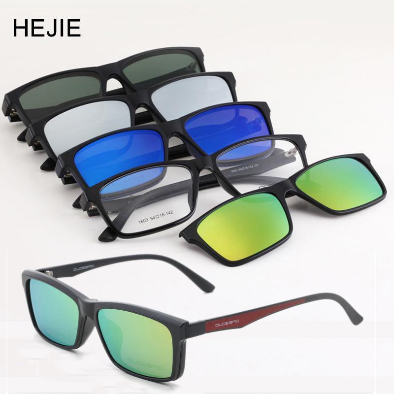 Moda Hombres Mujeres Magnético CLIP CLIP Gafas de sol en Myopia Eyeglases ópticos Marcos Protección UV Gafas de sol Y11161