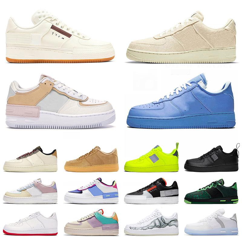 Force 1 Low Shadow Airforce One Utility AF1 off White MCA Moma dunk forces Just Do IT moda mates hombres mujeres zapatos casuales hombre para mujer zapatillas de deporte