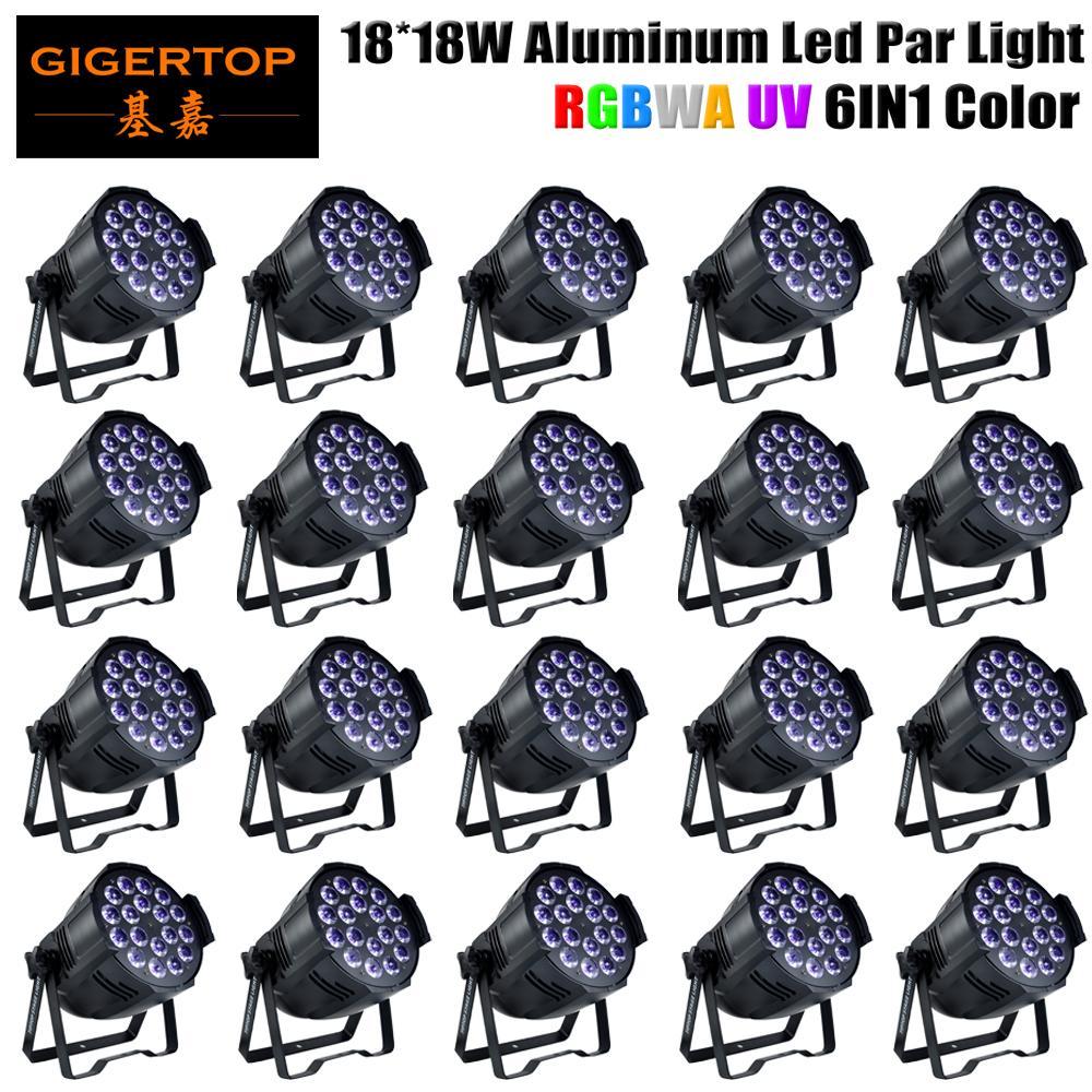 Najlepiej sprzedający się 20 sztuk / partia Rgbwa UV 6in1 18x18W Scena Light LED Par Light Profesjonalne myjnia ślubna LED PAC PANS 330W