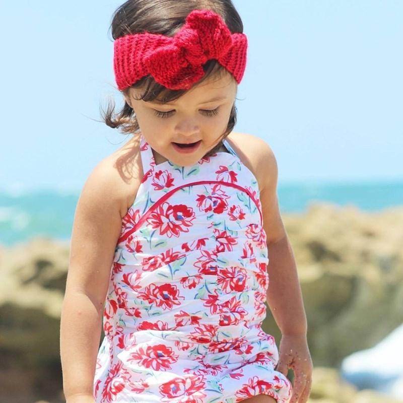 Bebé Niños Niñas Big Arco Cross Cross Headbands Kids Pein Bows Elastic Headwear Tocado Banda de pelo Headwrap Turban Nudo Niños Accesorios para el cabello