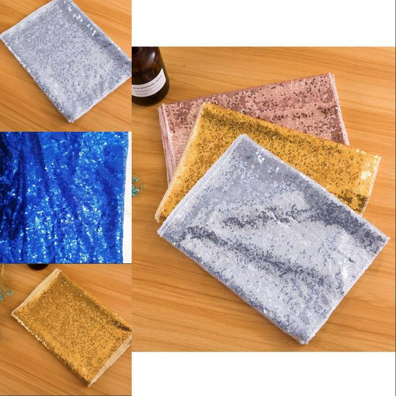 Mermaid Sequins Table Runner Cloths Fashion Party Flash Rectangle Flags Wedding Banquets Table Top Popular Decoration 13xw G2