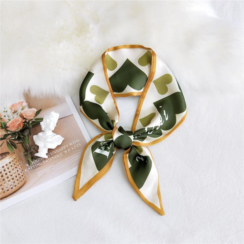Borsa donne sciarpa Plaid Magro Primavera per l'estate Bandana Foulard sciarpa di seta per le signore di