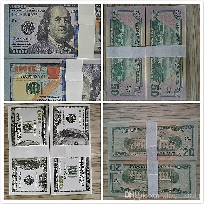 Jouets Dollar Money Banque Fake Money Comptage Dollars Dollars Cadeaux Note Movie Jeux Sales Festive Party Prop 20/50/100 Collections Hot 04 NRKUG