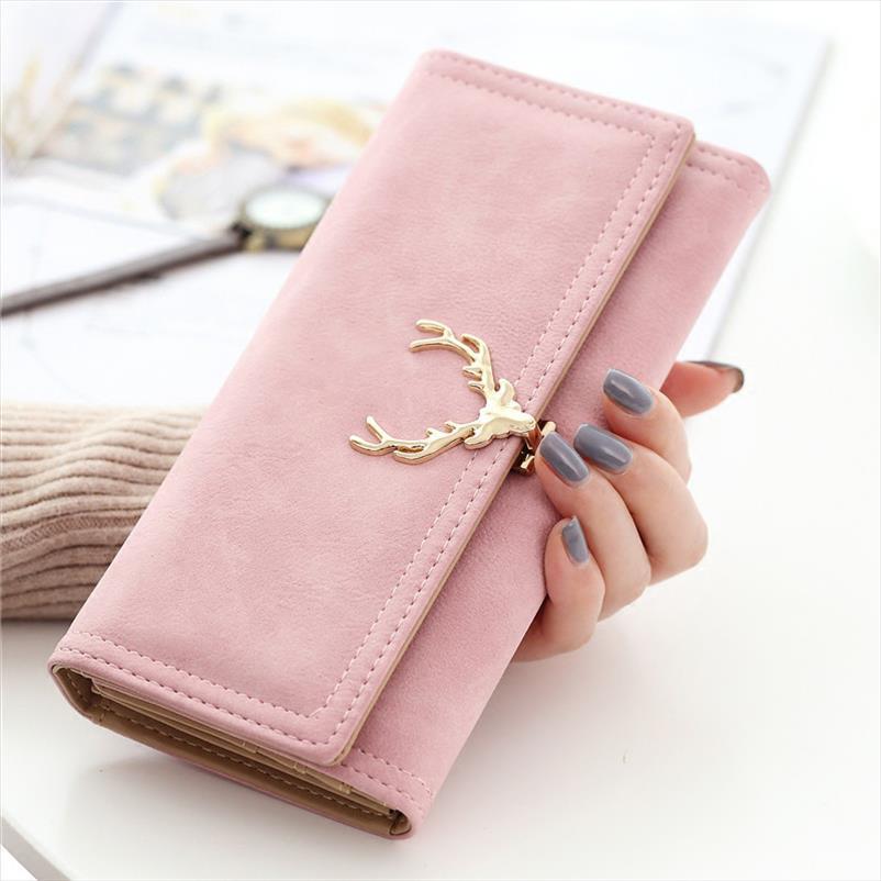 Leder Mode Frauen Brieftasche Weibliche Geldbörse Große Kapazität 2019 Taschenkarten Münze Neues Telefon Lange Pu Clutch Marke Designer Brieftaschen EJFKC