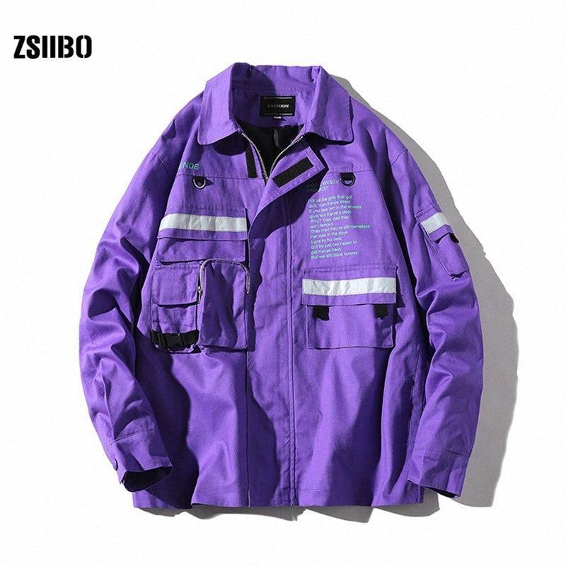 ZSIIBO marca de moda Jacket Men Mens Primavera Outono cor sólida Casacos Casacos Male Hip Brasão WGJK12 96d8 # Hop Jackets