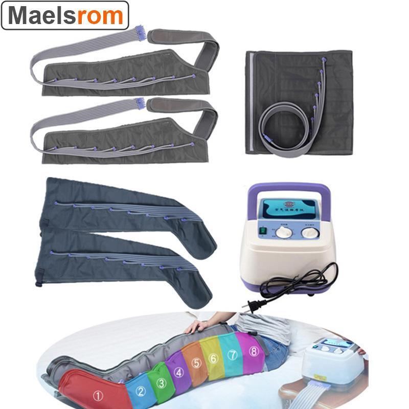 Multifuncional 8 câmaras de ar de compressão massageador de compressão infravermelho terapia perna braço cintura pneumático ar envoltórios relaxe dor reli