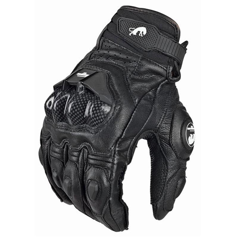 vendita-Uomini di cuoio caldo di Furygan AFS 6 guanti moto nera Moto Racing guanti della bicicletta Ciclismo Motociclismo Equitazione guanto Donne