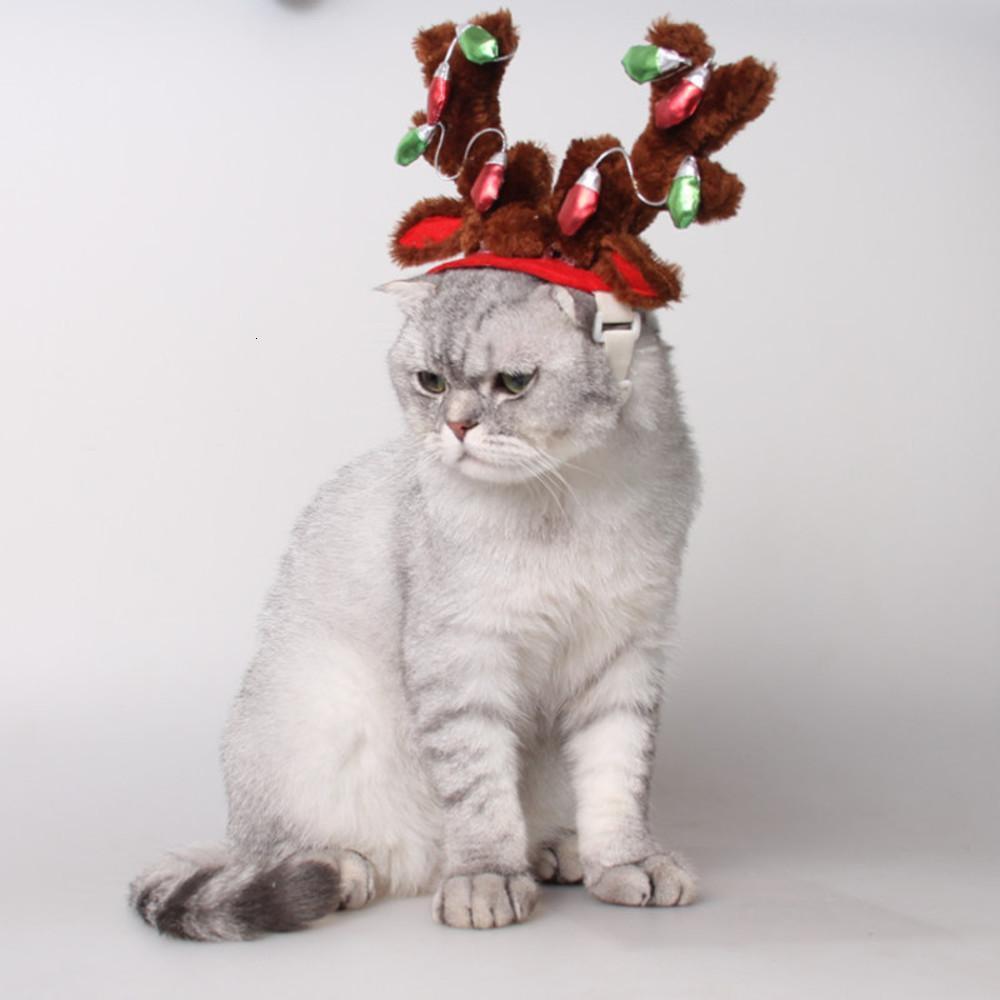 Frühling und Herbst Ausgehen Haarnadel Haustierprodukte Hunde Hut Katze Schmuck Glühbirne Geweih Stirnband