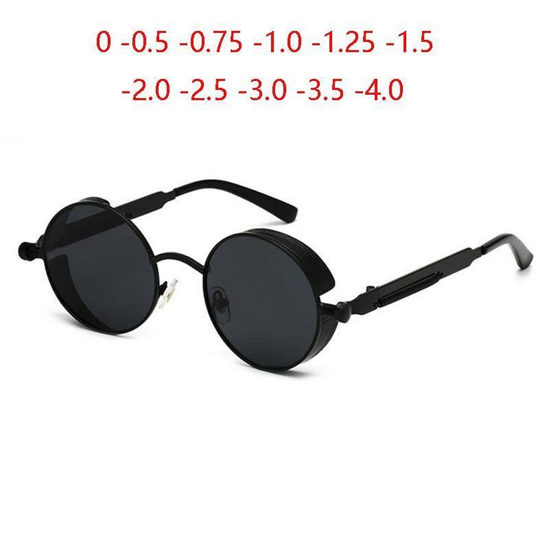 Mujer Steampunk -0.5 Gafas de sol Hombres menos Gafas polarizadas para lentes redondas 0 Gafas de sol Prescripción Punk -6.0 -1.0 -0.75 Retro SENBC
