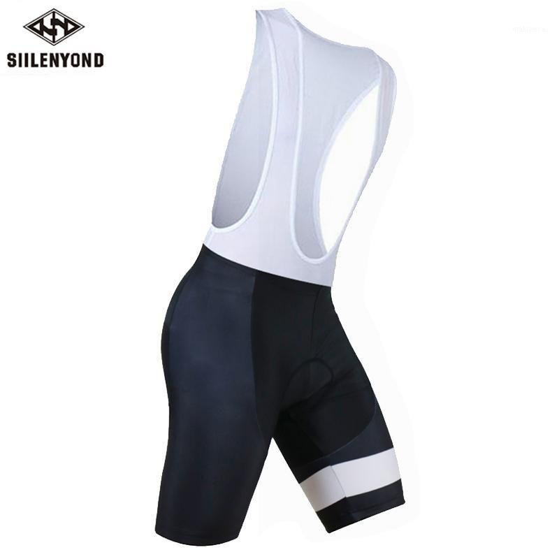 Vêtements de moto Siilenyond 2021 Mens cyclisme Breakfast SummerMax 3D Gel Pad Collants de vélo Roupa Ropa de Ciclismo Verano Vélo Pants