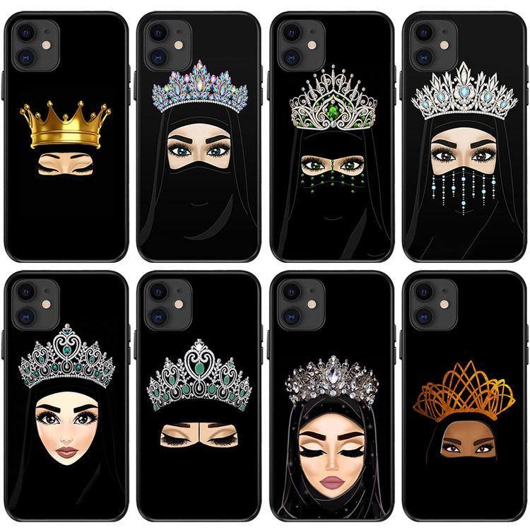 Женщина в хиджабе Face мусульманская Исламские GriL Глаза Мягкие силиконовые ТПУ чехол для телефона Apple, 7 8Plus XR X MAX 11 Pro