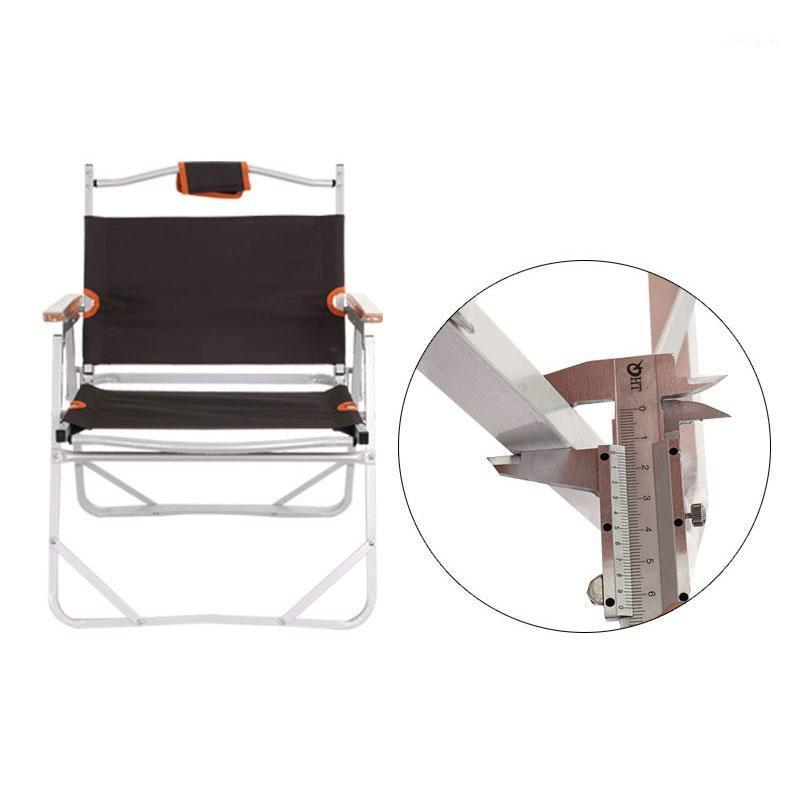 Camp Furniture Beach Chair Camping Al 3kg 56x47x66cm 200kg Coffee Outdoor Fishing Stool Oxford1