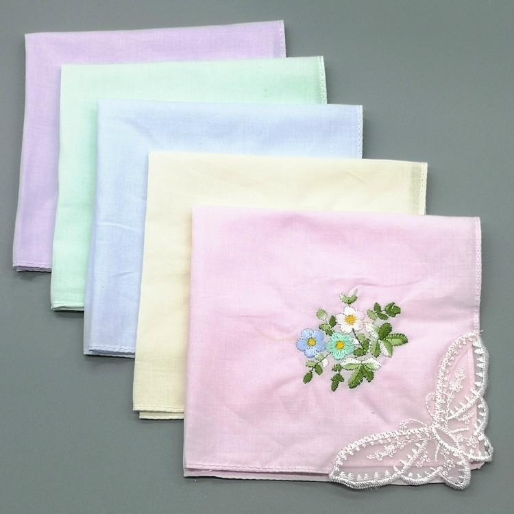 Cadeau brodé dames coton coton mince mouchoir en sueur absorbant délicat délicat femme douce femme mouchoir 28cm papillon ncf
