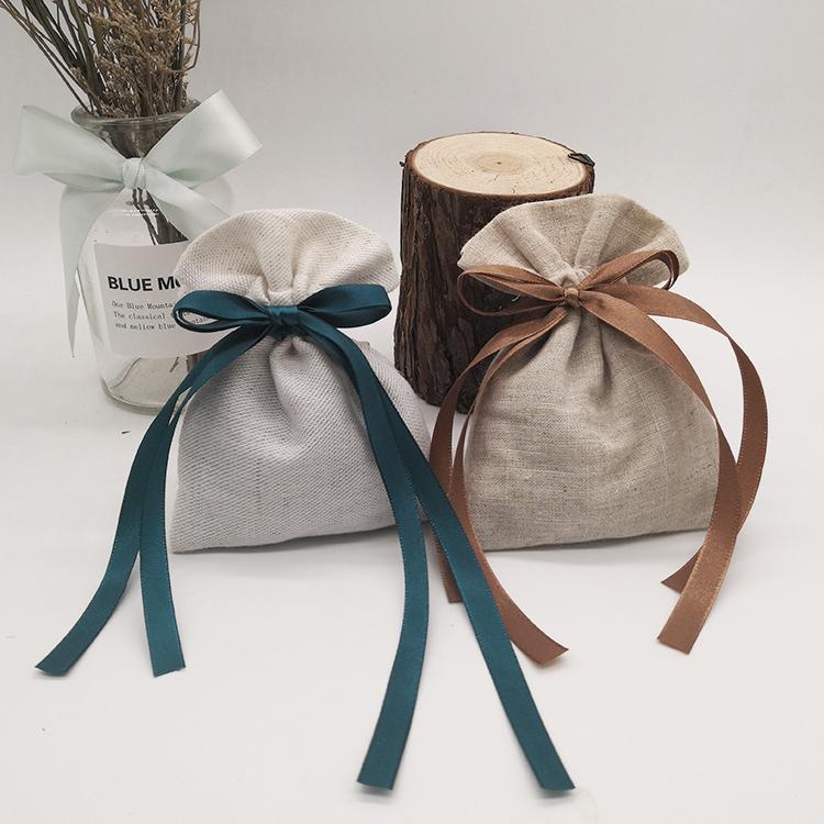 Kurdele İpli toz geçirmez Aksesuarlar Kozmetik Depolama Torbalar Butik Perakende Mağaza Satış Paketi Bags Packaging ile Takı Hediyelik Çanta