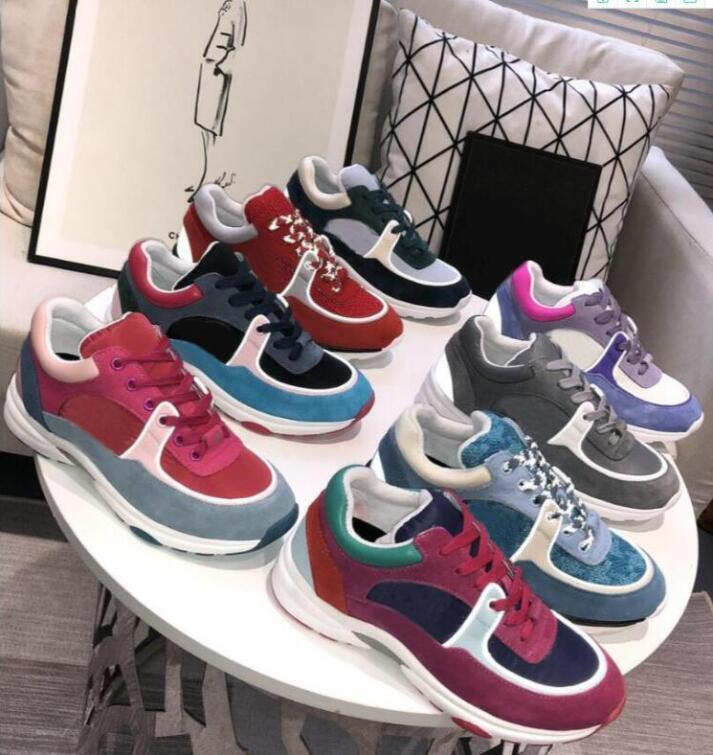 designer luxury sneakers men and women reflective casual shoes women sneakers party velvet calfskin mixed fiber top quality sneakers 35-45