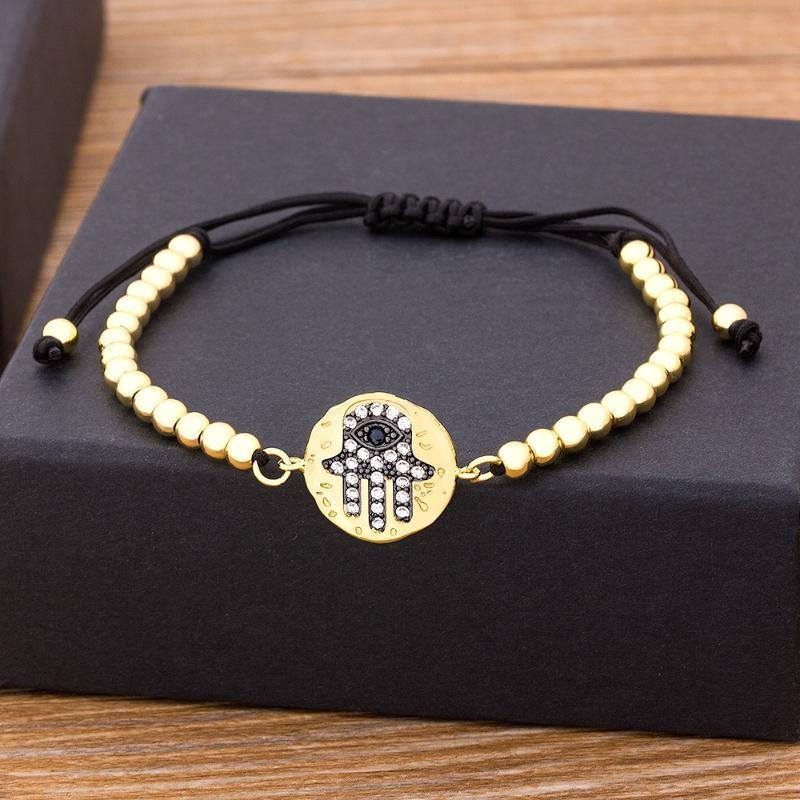 New Simple Design Fatima Hand Evil Eye Palm Bracelet Charm Magic Captivate Allure for Women Handmade Jewelry Gift wholesale