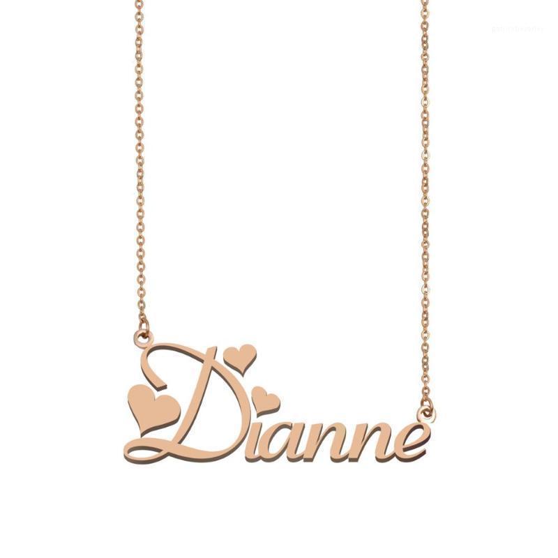 Anhänger Halsketten Dianne Name Halskette, Gewohnheit für Frauen Mädchen Freunde Geburtstag Hochzeit Weihnachten Mutter Tage Geschenk1