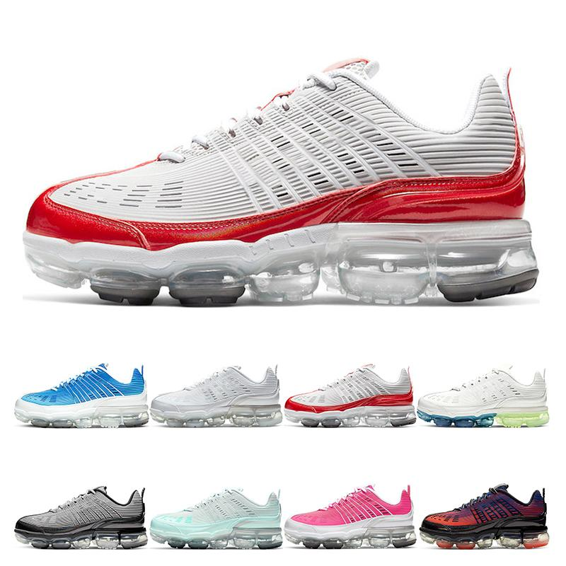 Nueva Zapatillas de deporte para hombre 360 ​​zapatillas de correr Summit White Metallic Silver University Red Light Aqua Hyper Pink Royal Womens Deportes Moda al aire libre